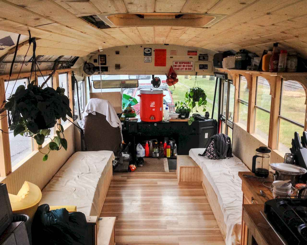 20 wild and wonderful school bus camper interior and plans ideas to