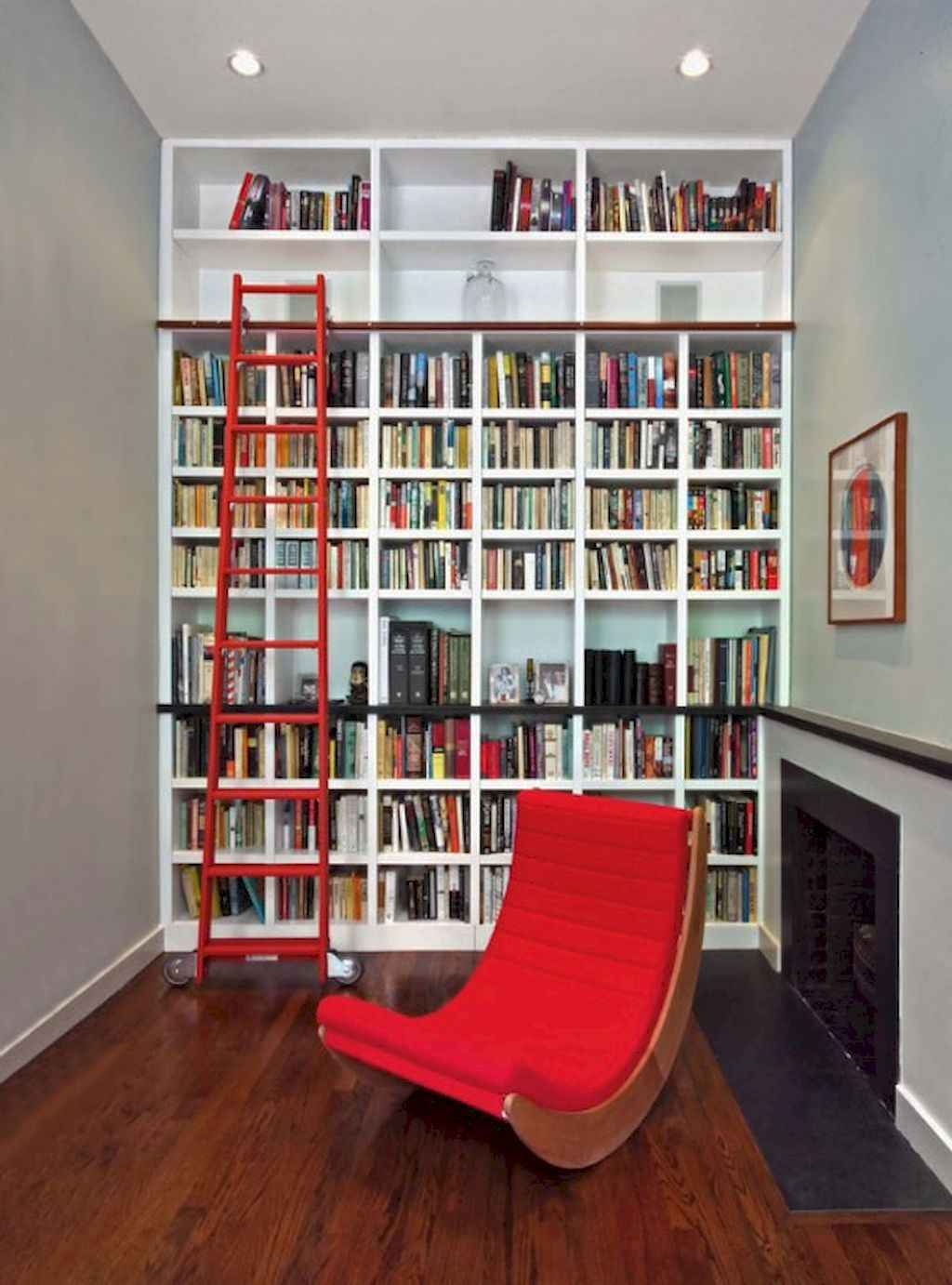Cool Home Library Design Ideas 25