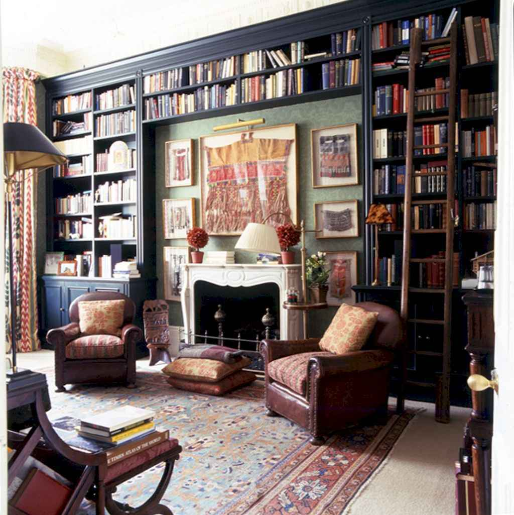 Cool Home Library Design Ideas 31