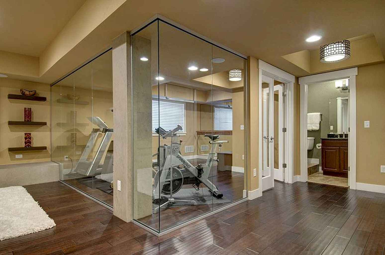 Home gym ideas small spaces 11 LivingMarch