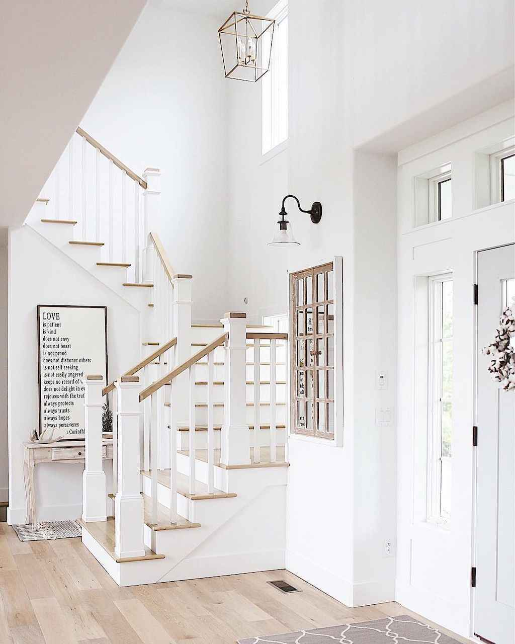 80 Modern Farmhouse Staircase Decor Ideas (71) - LivingMarch.com