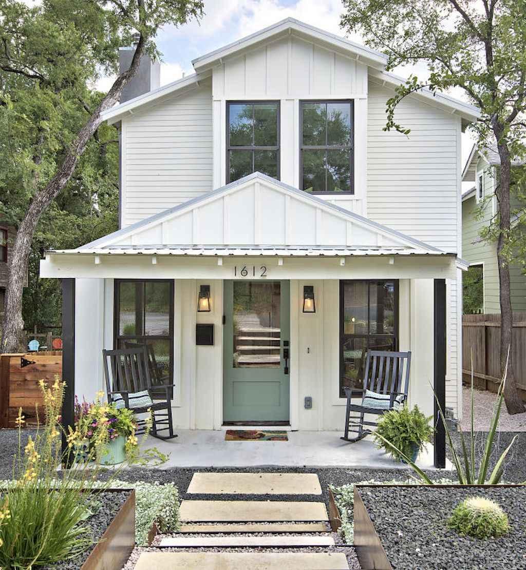 90 modern american farmhouse exterior landscaping design for American house exterior design