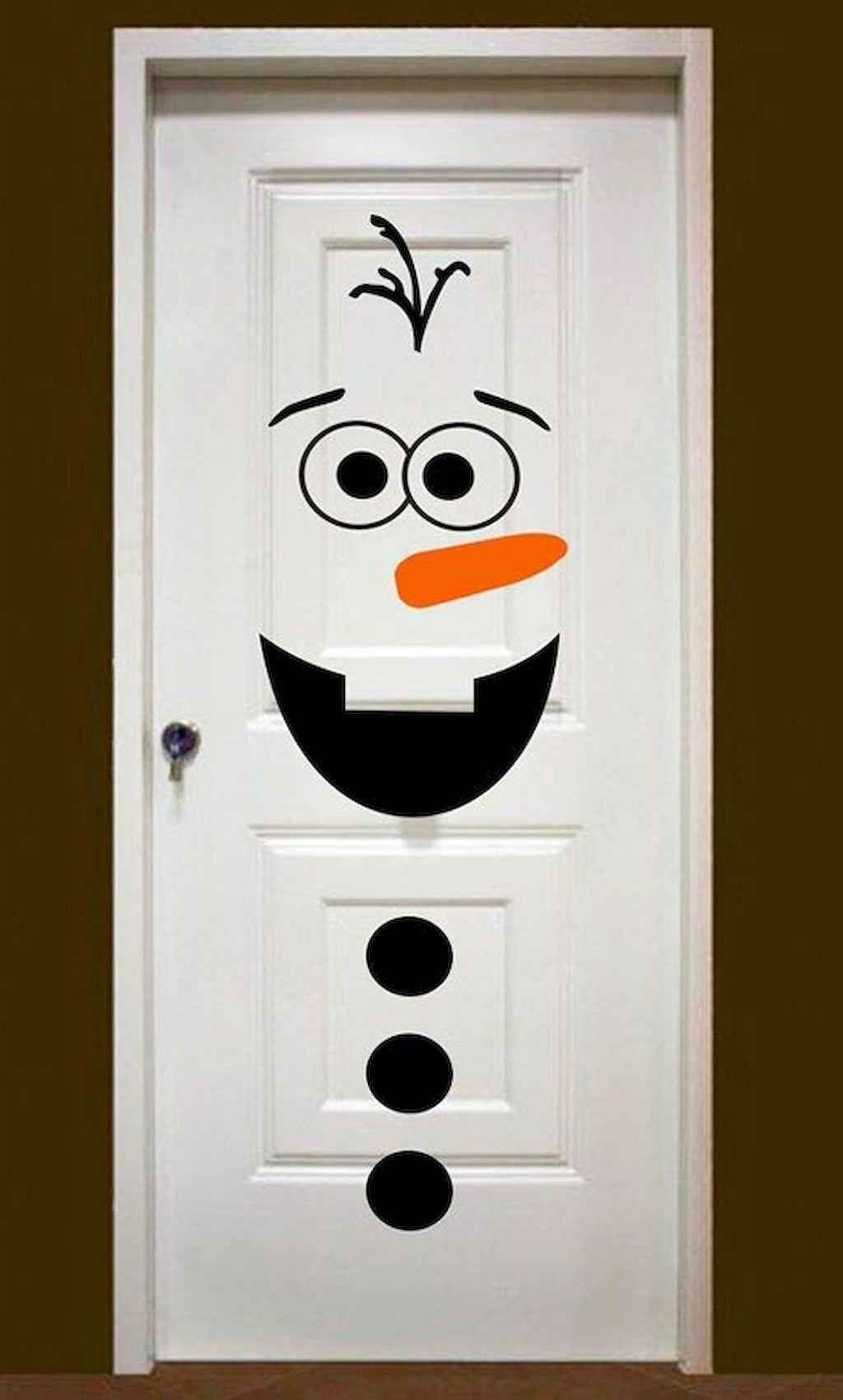 50 Simple Diy Christmas Door Decorations For Home And School 2