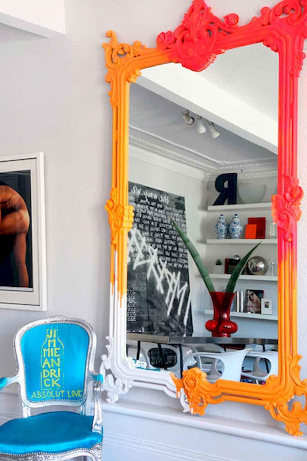 22 Stunning DIY Painted Mirror Designs Ideas (14)