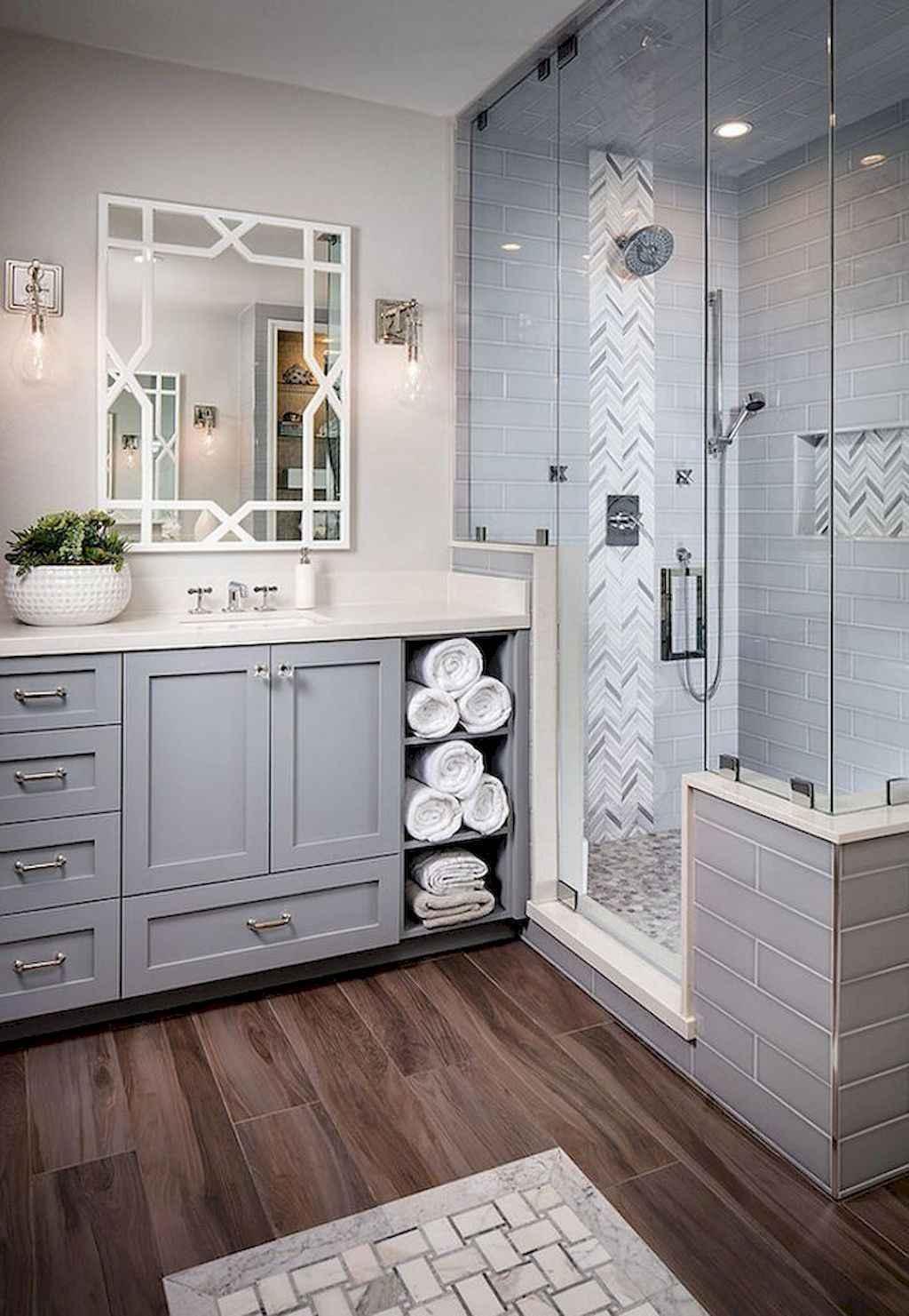 80 Awesome Farmhouse Tile Shower Decor Ideas (63)