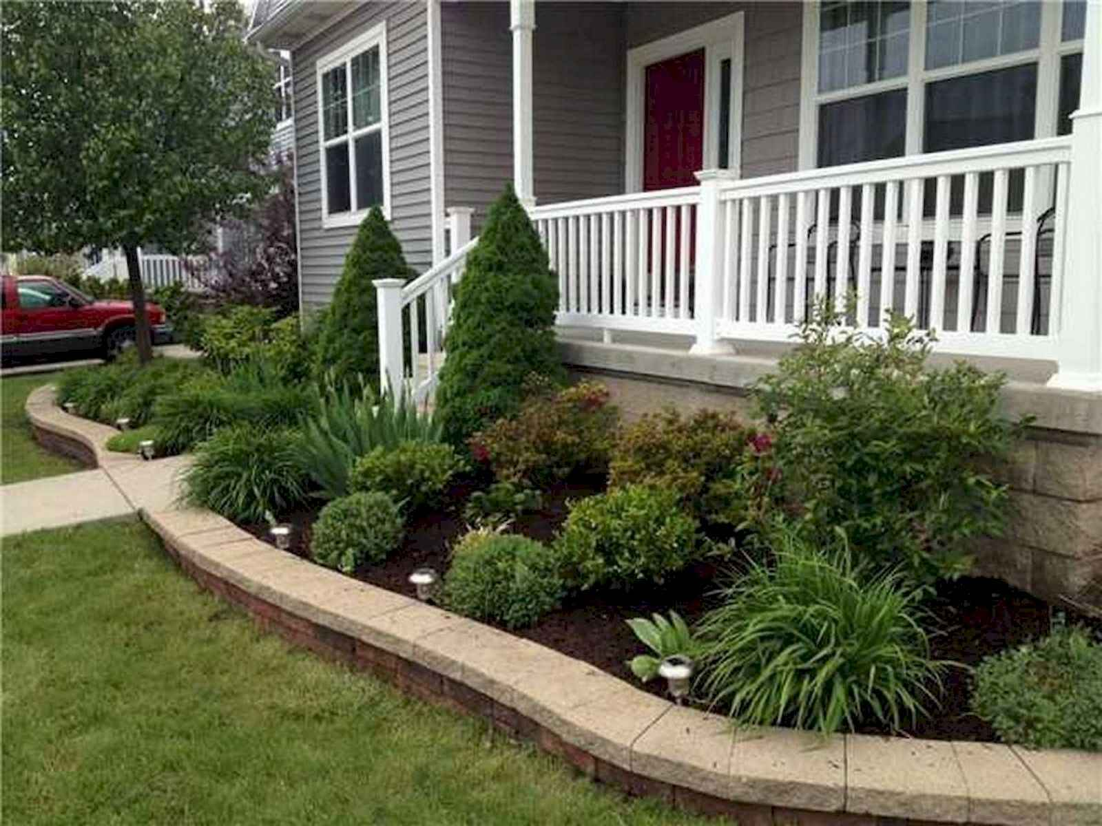 60 stunning low maintenance front yard landscaping design for Front yard renovation ideas